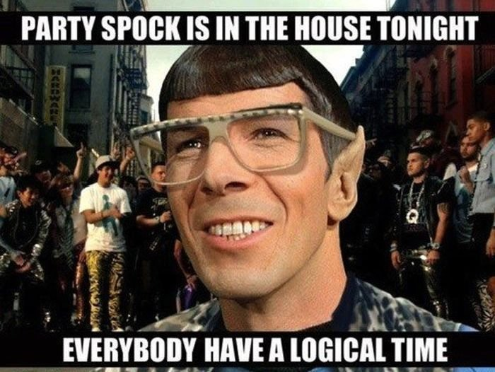 Party Spock Is In The House Tonight!