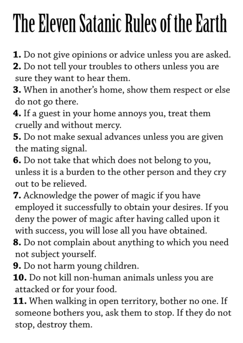 When Is It Better To Be A Satanist?
